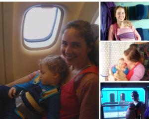 malé miminko s maminkou ve vlaku
